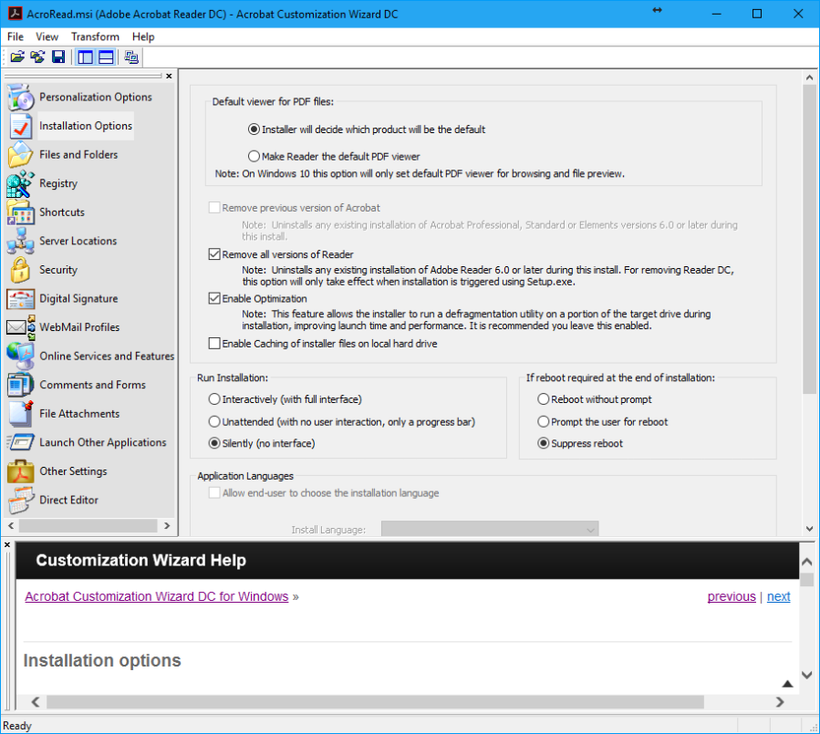 AdobeAcrobatReaderDC_InstallationOptions