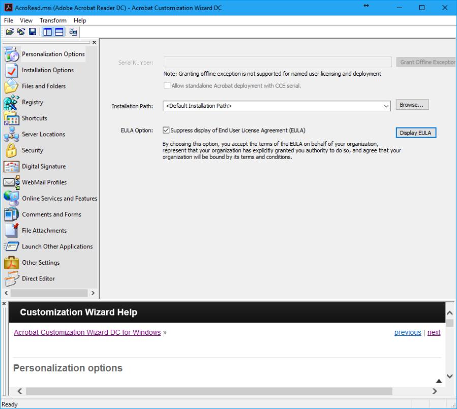 AdobeAcrobatReaderDC_PersonalizationOptions