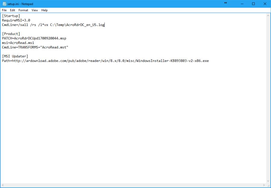 AdobeAcrobatReaderDC_SetupINI